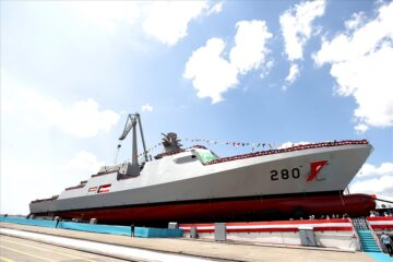 Istanbul Shipyard Launched First Babur-class Corvette For Pakistan Navy