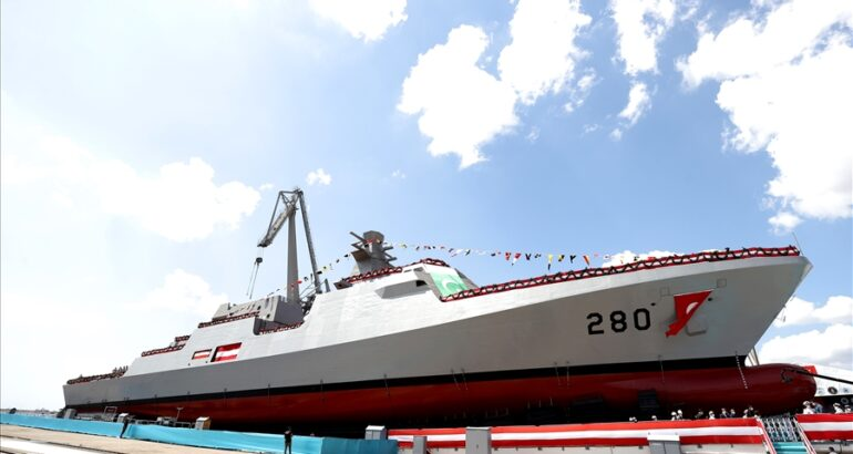 Istanbul Shipyard Launched First MILGEM-Class Corvette For Pakistan Navy