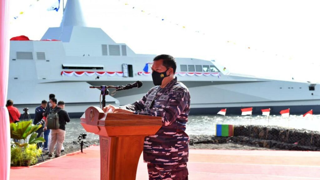 PT Lundin Launches New Stealth Trimaran Vessel for Indonesian Navy Golok 688