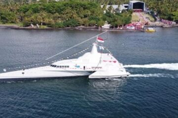 PT Lundin Launches New Stealth Trimaran Vessel for Indonesian Navy