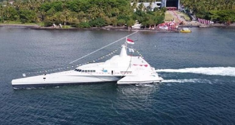 PT Lundin Launches New Stealth Trimaran Vessel for Indonesian Navy KRI Golok