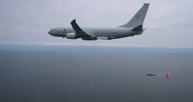 RAF Poseidon MPA Has Released A Torpedo For The First Time