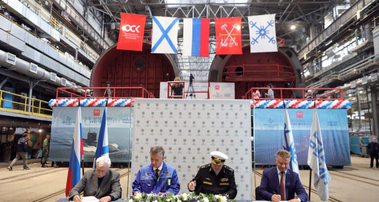 Russia Lays Keel of Four Submarines and Two Corvettes