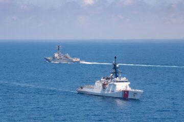 U.S. Navy and U.S. Coast Guard transit Taiwan Strait