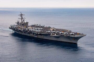 U.S. Navy Carl Vinson Carrier Strike Group Departs On Deployment
