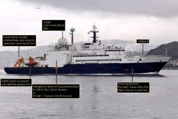 Russian Spy Ship Yantar Loitering Near Trans-Atlantic Internet Cables