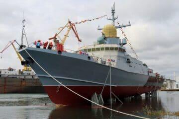 "Crimean Shipyards Launches Karakurt-class corvette ""Askold"""