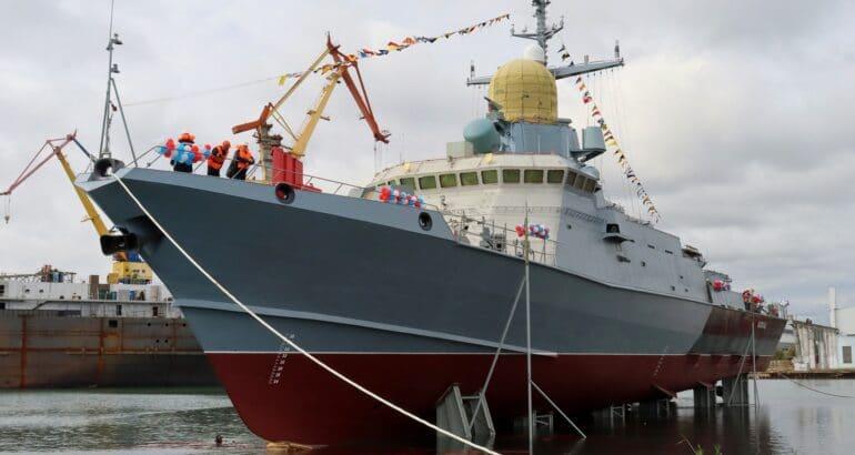 Crimean Shipyards Launches Karakurt-class corvette Askold