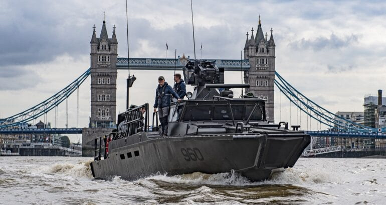 DSEI 2021 Saab's Next Generation Combat Boat on the Thames