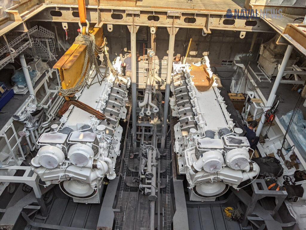 Engines aboard POM OPV