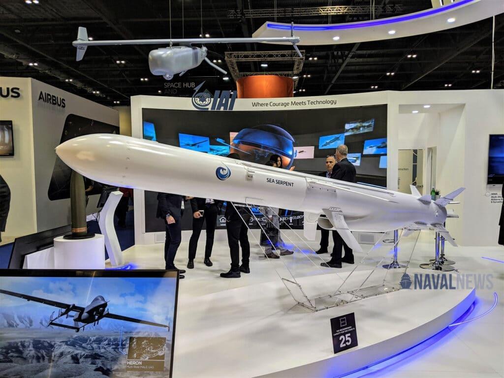 IAI Unveils New Sea Serpent Anti-Ship Missile DSEI 2021