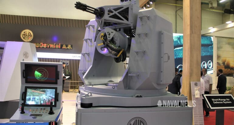 IDEF 2021 MKE unveils new 76 mm naval gun and 20 mm CIWS