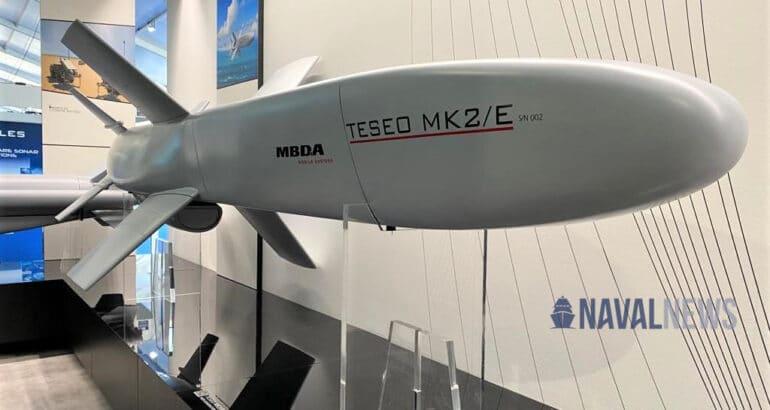 MBDA Unveils New Teseo Mk2E Anti-Ship Missile at SEAFUTURE 2021