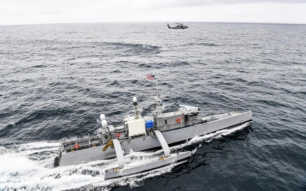 MH-60 with Sea Hunter