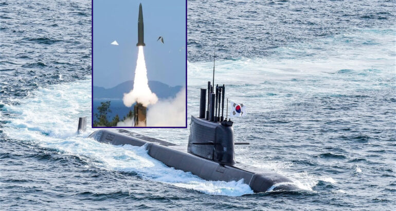 South Korea Test-Fires SLBM Ballistic Missile from new KSS III Submarine
