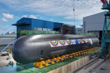 South Korea's HHI Launches 3rd KSS III Submarine for the ROK Navy