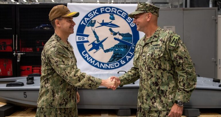 U.S. Navy's New Task Force 59 Teams Manned with Unmanned Systems for CENTCOM's Middle East