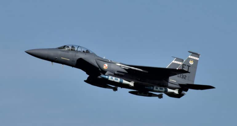 USAF's F-15E completes first successful Maritime JDAM test