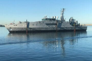 Austal Launches First Evolved Cape-class patrol boat for Australian Navy