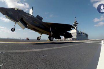 Video: F-35B Conduct First Landing Aboard JS Izumo