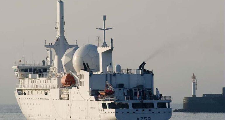 French SIGINT ship Dupuy de Lôme