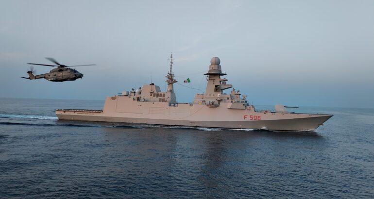 Italian Navy Bergamini-class frigate ITS Federico Martinengo