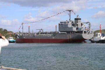 Japanese Shipyard Launches First Yard Oiler Tanker for JMSDF