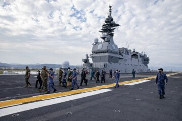 Japan's Helicopter Carrier JS Izumo to Start F-35B Tests