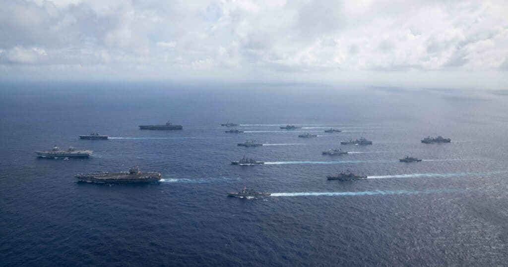 Multiple Allied Carrier Strike Groups Operate Together in Pacific