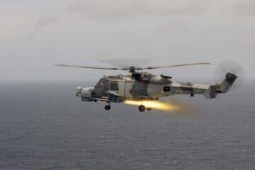 Royal Navy tests Martlet missile during CSG 21 Deployment
