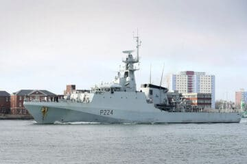 Royal Navy's HMS Trent heads for security patrols in Gulf of Guinea waters