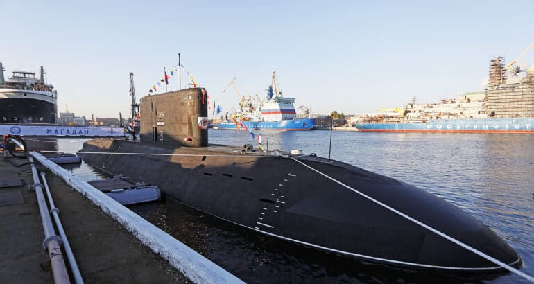 Russian Navy Commissions 9th Project 636.3 Submarine 'Magadan'