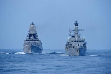 Sea phase of India-UK exercise 'Konkan Shakti 2021' in full swing