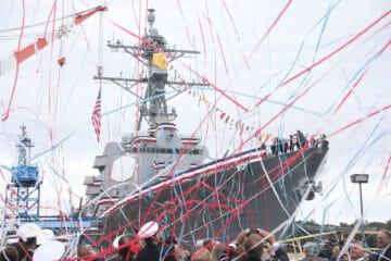 U.S. Navy's 70th Arleigh Burke-class Destroyer Christened at BIW