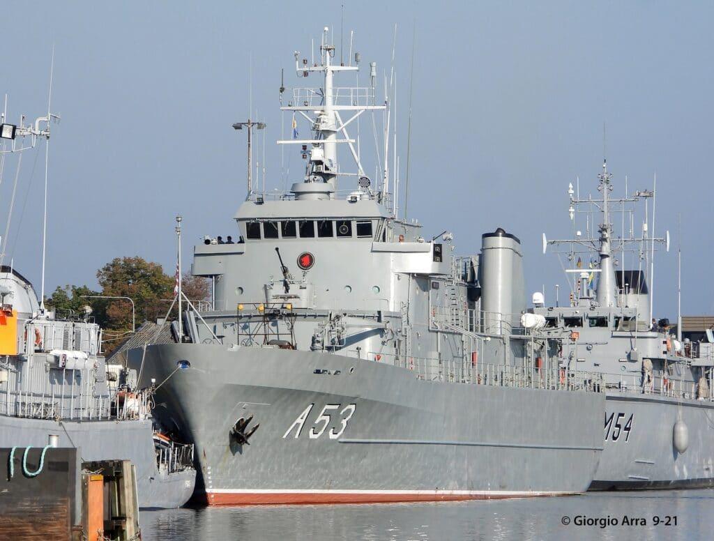 Vidar-class support vessel Virsaitis of the Latvian Navy